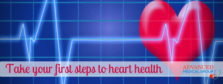Heart with pulse line illustration