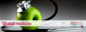 Stethescope and apple - lifestyle medicine